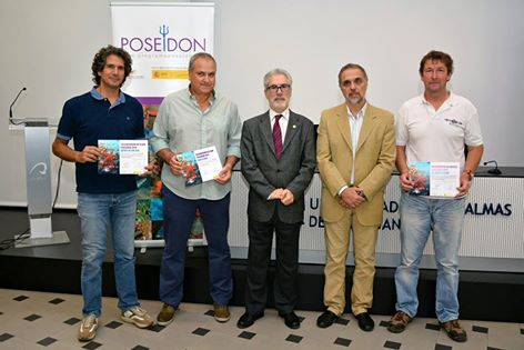 David Thompson (La Santa Diving), Ricardo Haroun (Director Programa Poseidon) and the director of the ULPGC
